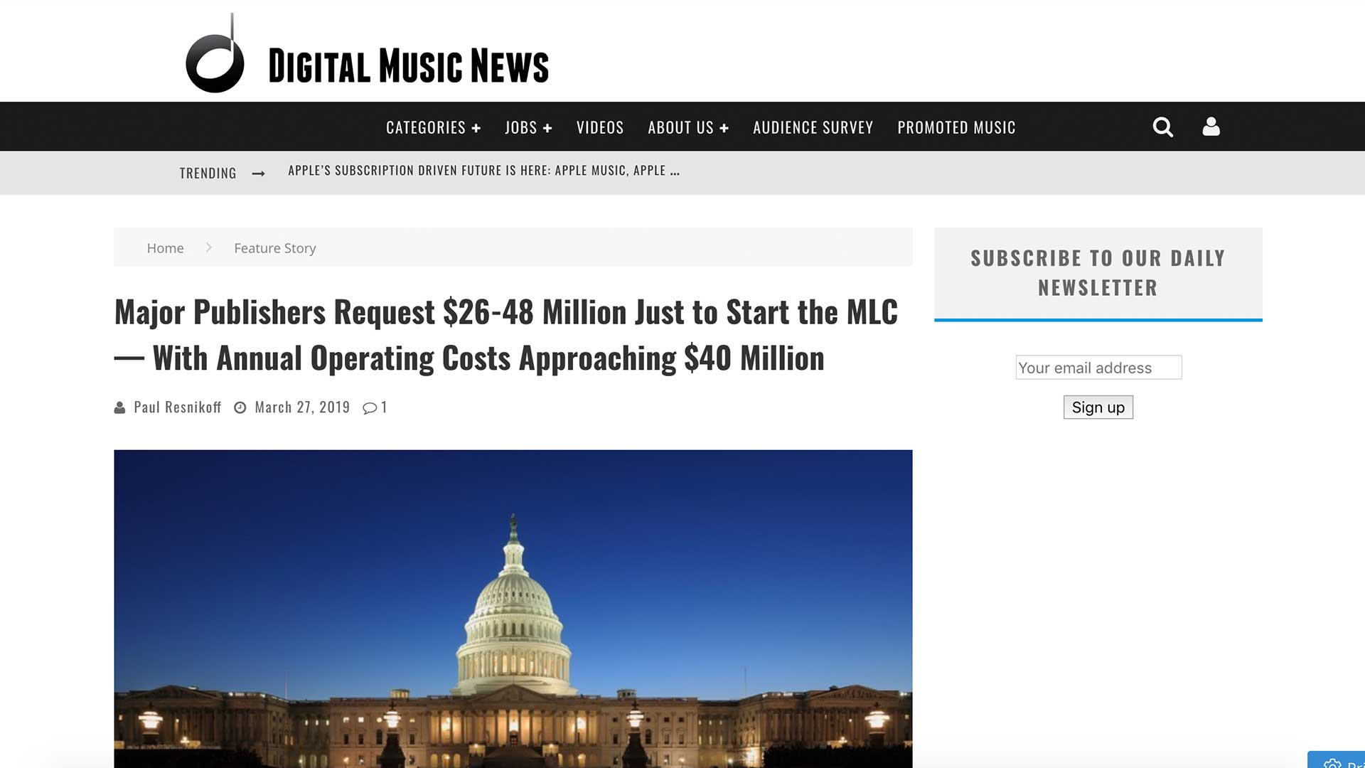 Fairness Rocks News Major Publishers Request $26-48 Million Just to Start the MLC — With Annual Operating Costs Approaching $40 Million