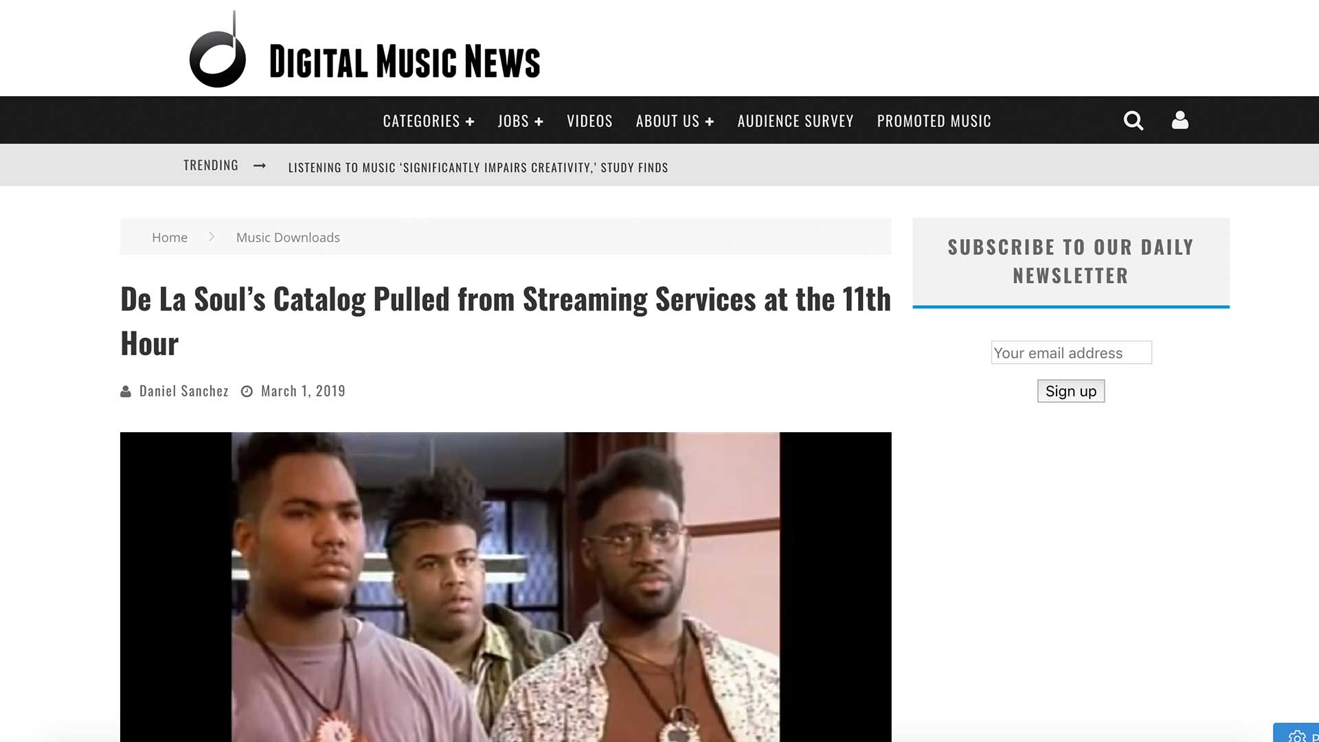 Fairness Rocks News De La Soul's Catalog Pulled from Streaming Services at the 11th Hour