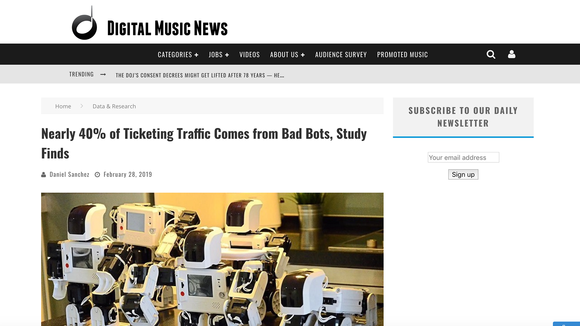 Fairness Rocks News Nearly 40% of Ticketing Traffic Comes from Bad Bots, Study Finds