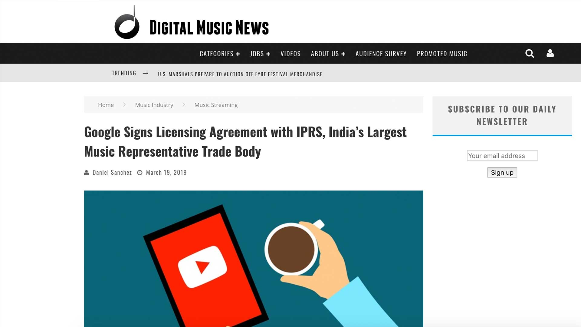 Fairness Rocks News Google Signs Licensing Agreement with IPRS, India's Largest Music Representative Trade Body