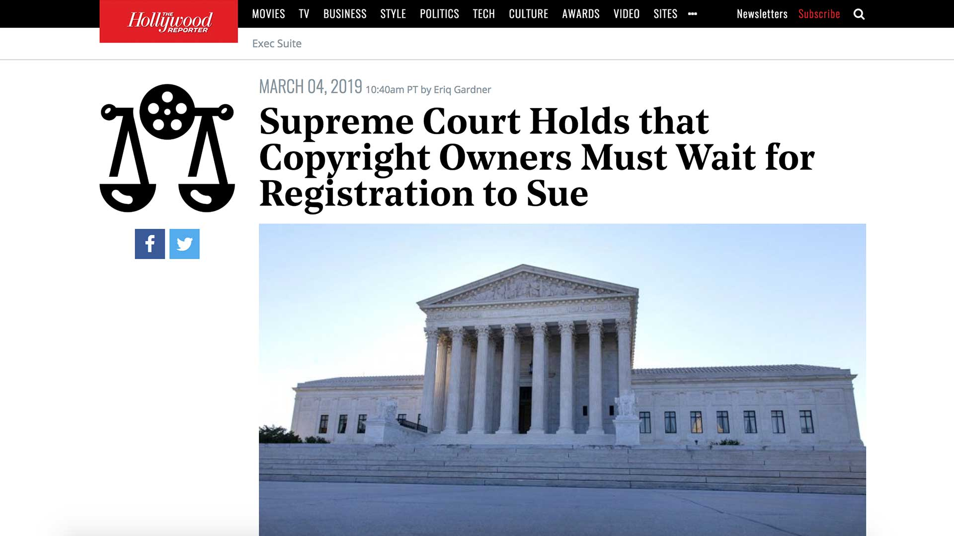 Fairness Rocks News Supreme Court Holds that Copyright Owners Must Wait for Registration to Sue