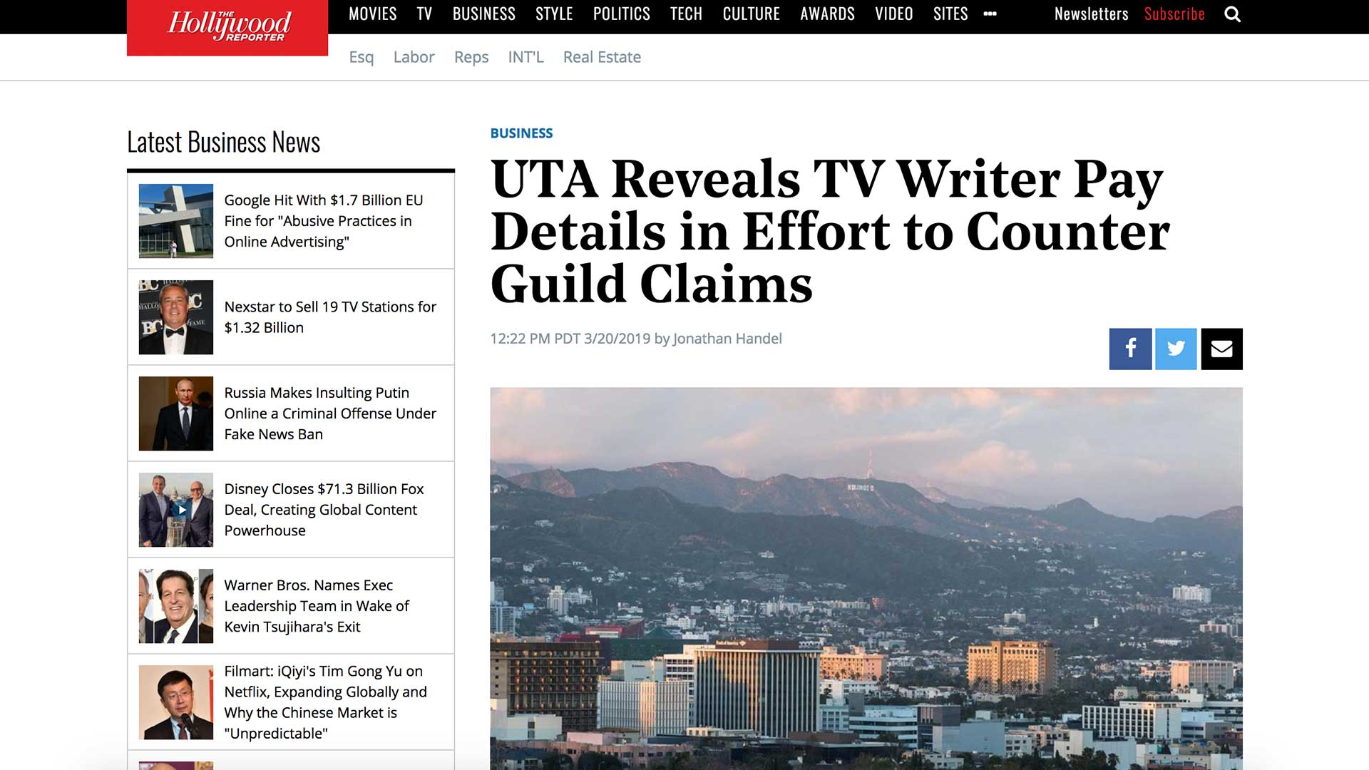 Fairness Rocks News UTA Reveals TV Writer Pay Details in Effort to Counter Guild Claims