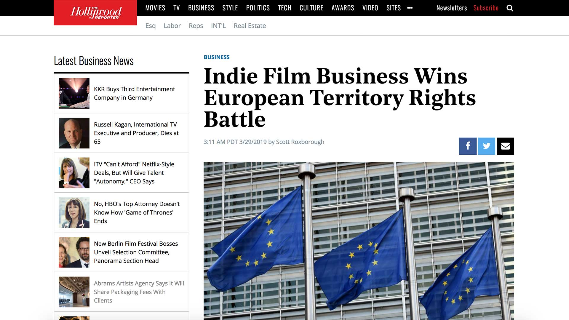 Fairness Rocks News Indie Film Business Wins European Territory Rights Battle
