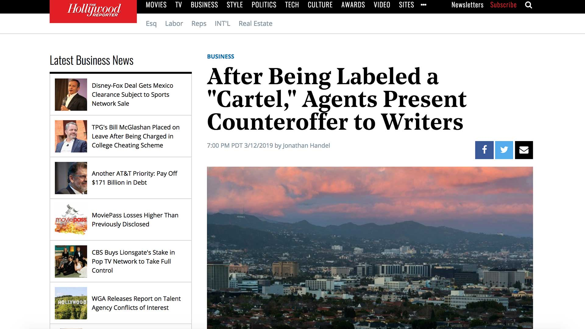 "Fairness Rocks News After Being Labeled a ""Cartel,"" Agents Present Counteroffer to Writers"