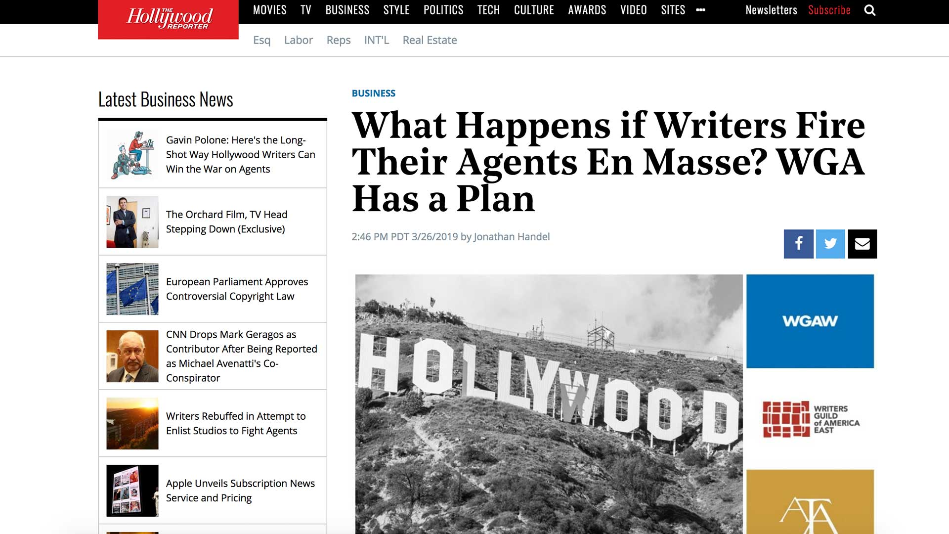 Fairness Rocks News What Happens if Writers Fire Their Agents En Masse? WGA Has a Plan