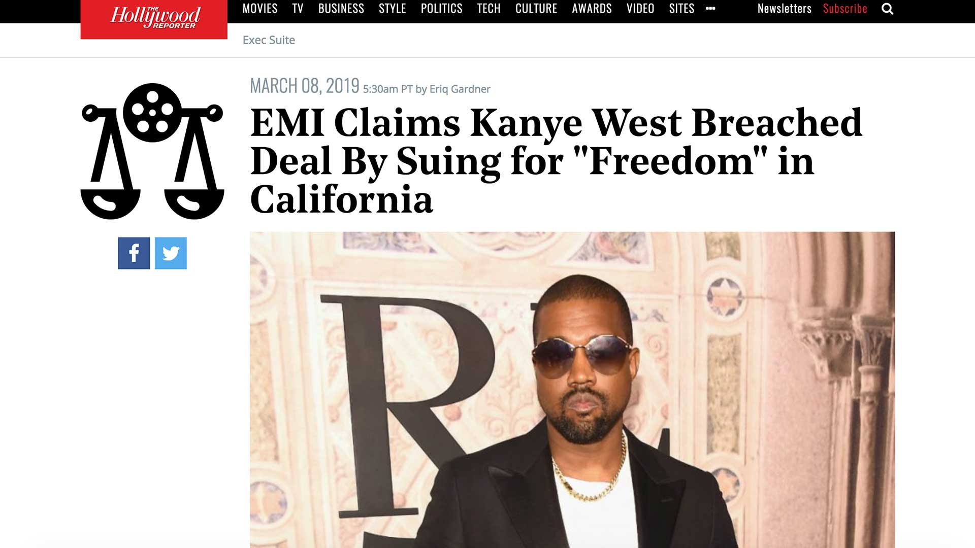 "Fairness Rocks News EMI Claims Kanye West Breached Deal By Suing for ""Freedom"" in California"