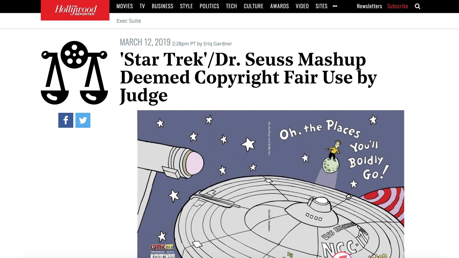 Fairness Rocks News 'Star Trek'/Dr. Seuss Mashup Deemed Copyright Fair Use by Judge