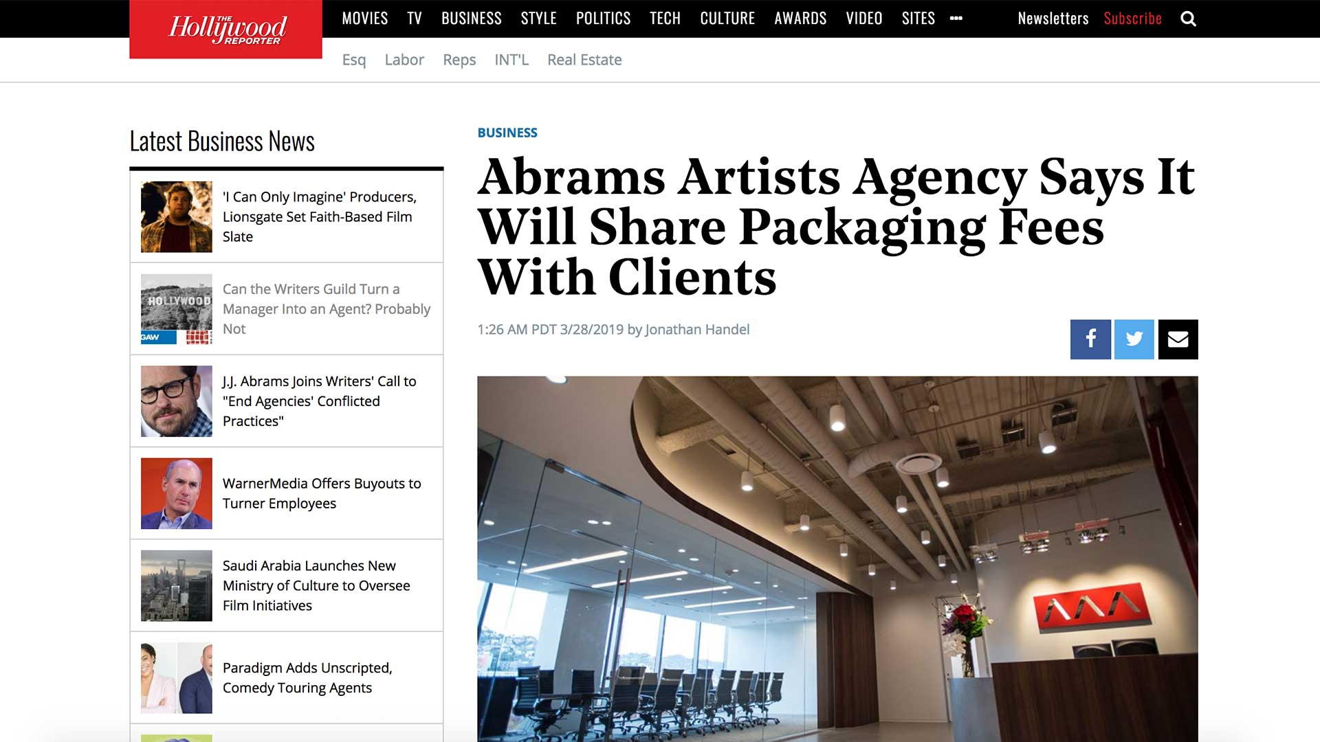 Fairness Rocks News Abrams Artists Agency Says It Will Share Packaging Fees With Clients
