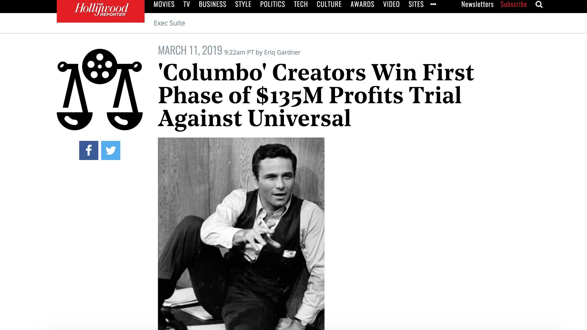 Fairness Rocks News 'Columbo' Creators Win First Phase of $135M Profits Trial Against Universal