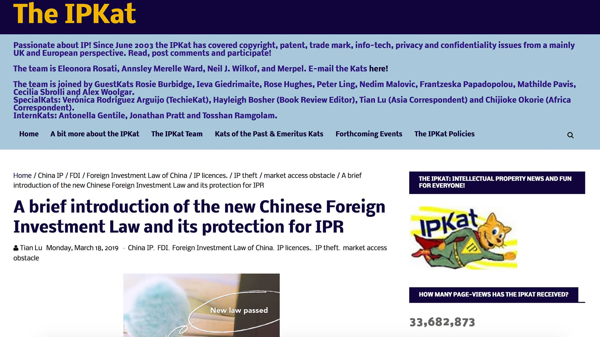 Fairness Rocks News A brief introduction of the new Chinese Foreign Investment Law and its protection for IPR