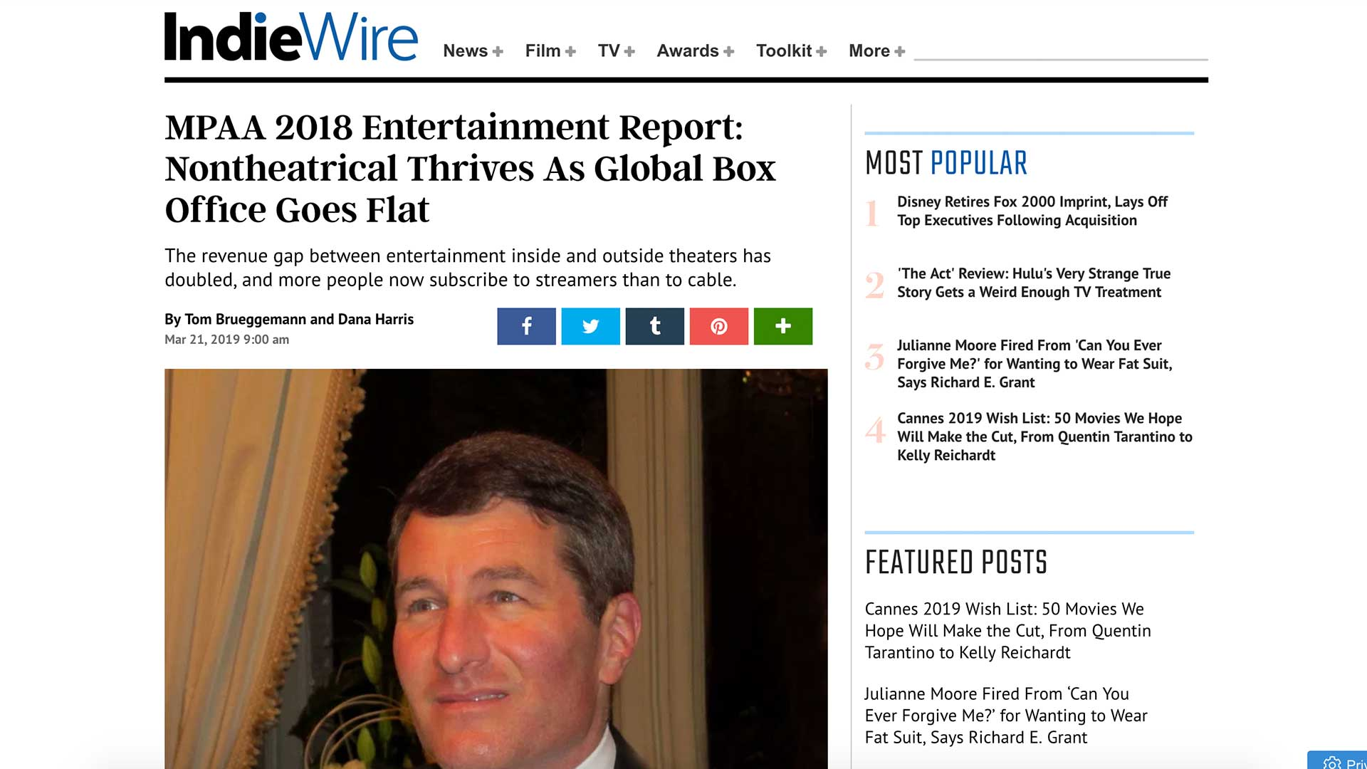 Fairness Rocks News MPAA 2018 Entertainment Report: Nontheatrical Thrives As Global Box Office Goes Flat