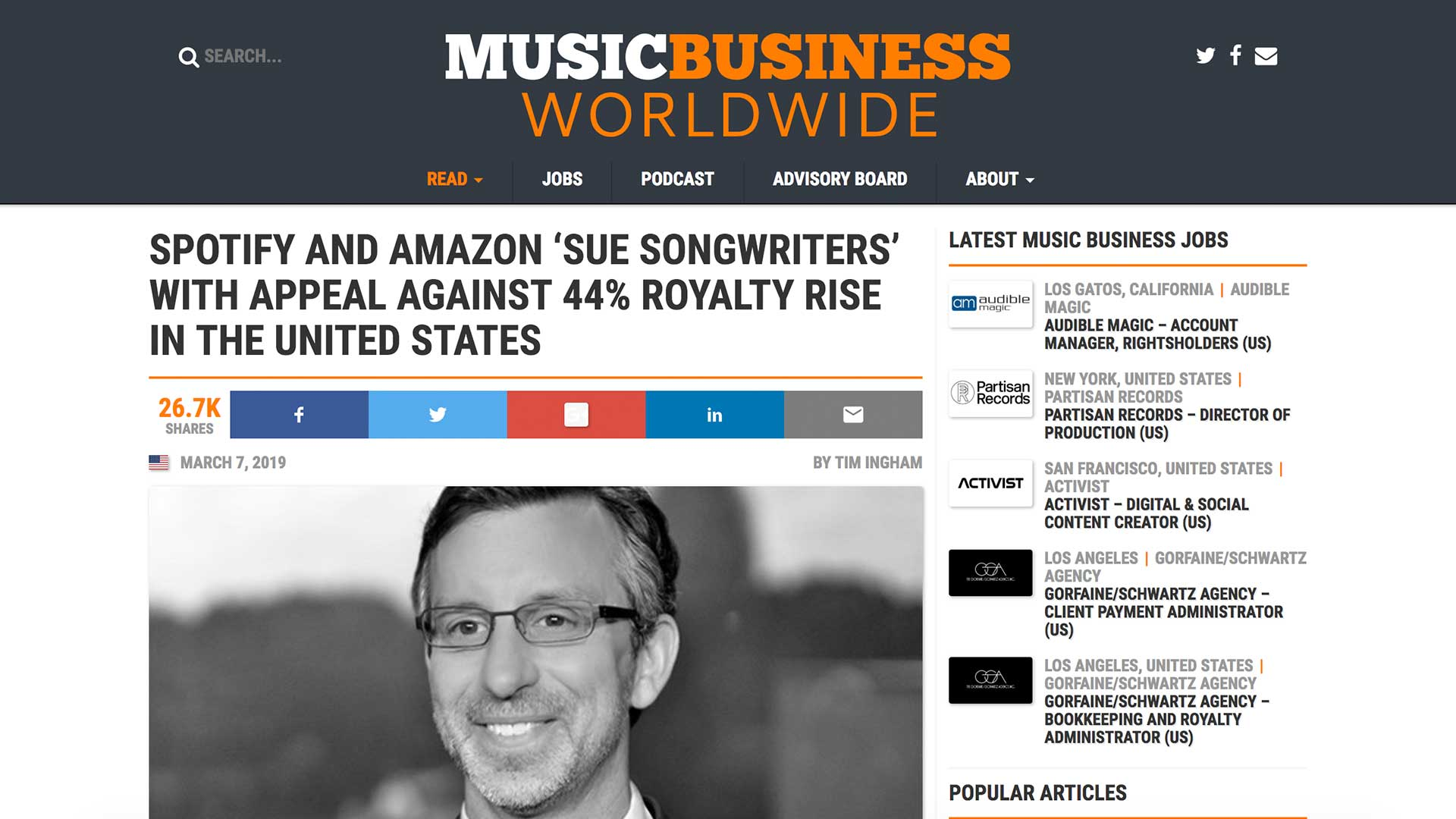 Fairness Rocks News SPOTIFY AND AMAZON 'SUE SONGWRITERS' WITH APPEAL AGAINST 44% ROYALTY RISE IN THE UNITED STATES