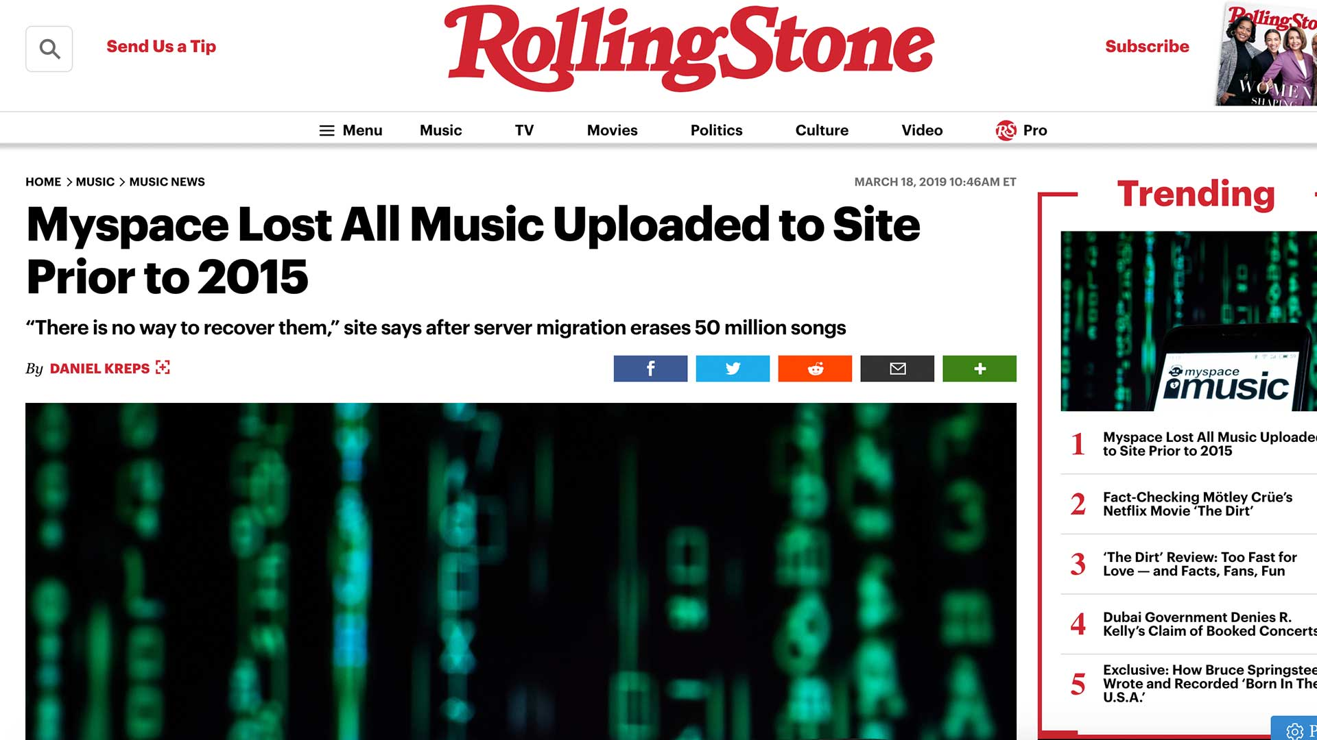 Fairness Rocks News Myspace Lost All Music Uploaded to Site Prior to 2015
