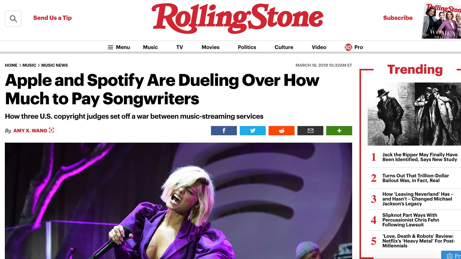Fairness Rocks News Apple and Spotify Are Dueling Over How Much to Pay Songwriters