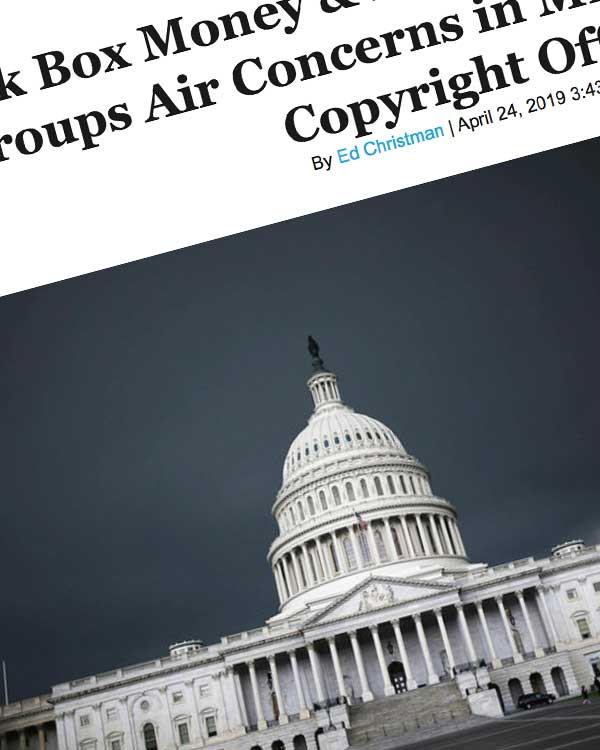 Fairness Rocks News Black Box Money & Hidden Conflicts: Industry Groups Air Concerns in MLC Comments to Copyright Office