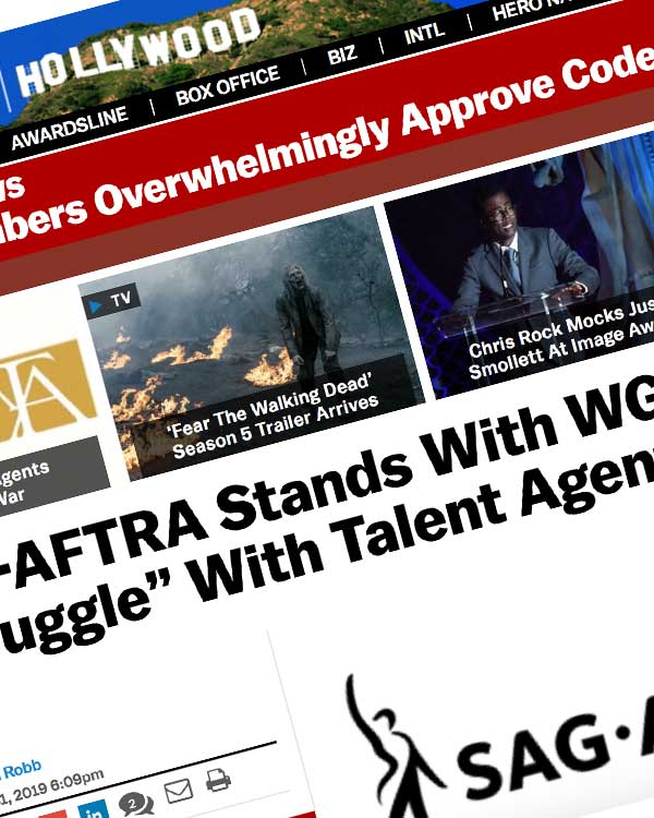 "Fairness Rocks News SAG-AFTRA Stands With WGA In Its ""Struggle"" With Talent Agents"
