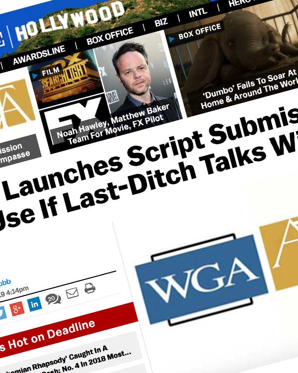 Fairness Rocks News WGA Launches Script Submission System For Use If Last-Ditch Talks With ATA Fail