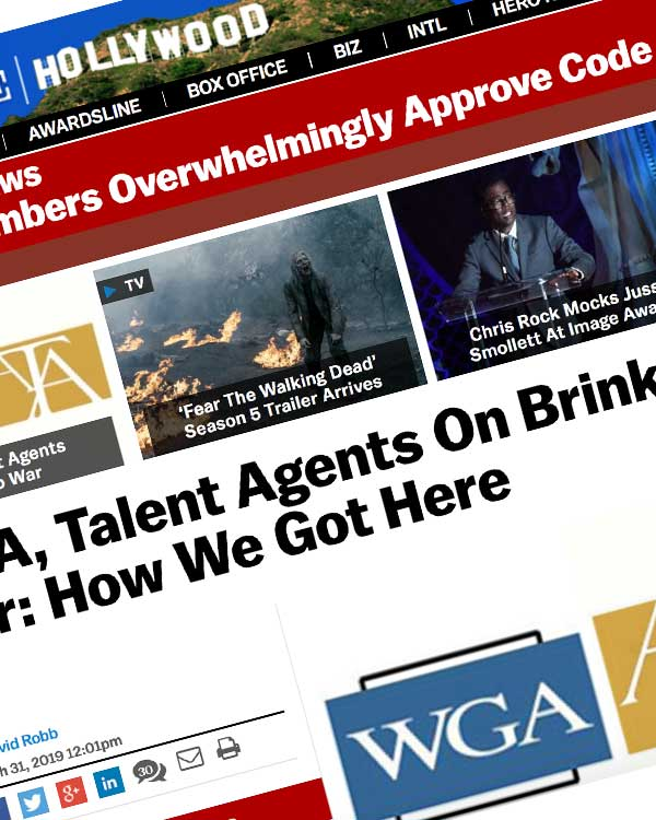 Fairness Rocks News WGA, Talent Agents On Brink Of All-Out War: How We Got Here