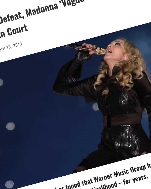 Fairness Rocks News In a Stunning Defeat, Madonna 'Vogue' Co-Writer Beats Warner Music Group in Court
