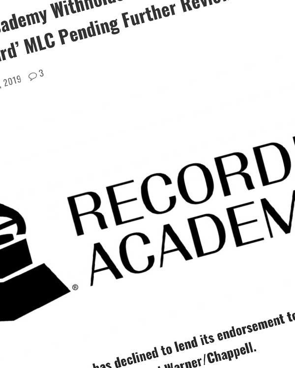 Fairness Rocks News The Recording Academy Withholds Endorsement of the 'Industry Standard' MLC Pending Further Review