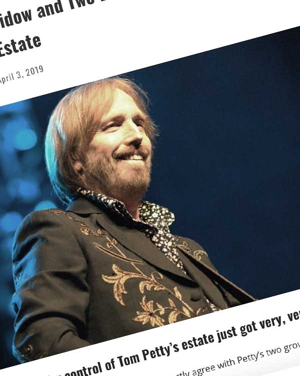Fairness Rocks News Tom Petty's Widow and Two Daughters Are Now Fighting Over the Singer's Estate