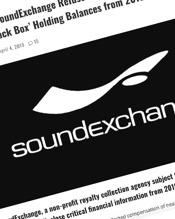 Fairness Rocks News 'Non-Profit' SoundExchange Refuses to Disclose Top Executive Salaries, 'Black Box' Holding Balances from 2018