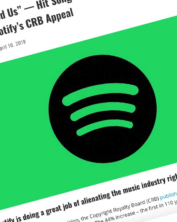 """Fairness Rocks News """"You Have Used Us"""" — Hit Songwriters Pen Open Letter Slamming Spotify's CRB Appeal"""
