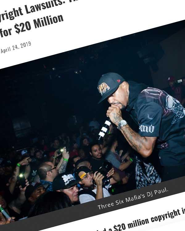 Fairness Rocks News Today In Copyright Lawsuits: Three Six Mafia's DJ Paul Sues Travis Scott for $20 Million