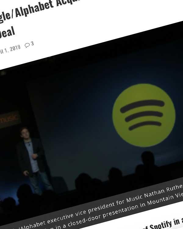 Fairness Rocks News Breaking: Google/Alphabet Acquiring Spotify In $43.4 Billion Cash, Equity Deal