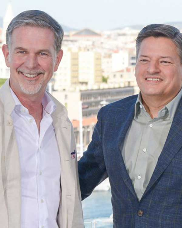 Fairness Rocks News Netflix CEO Reed Hastings, Content Chief Ted Sarandos' Pay Rises in 2018