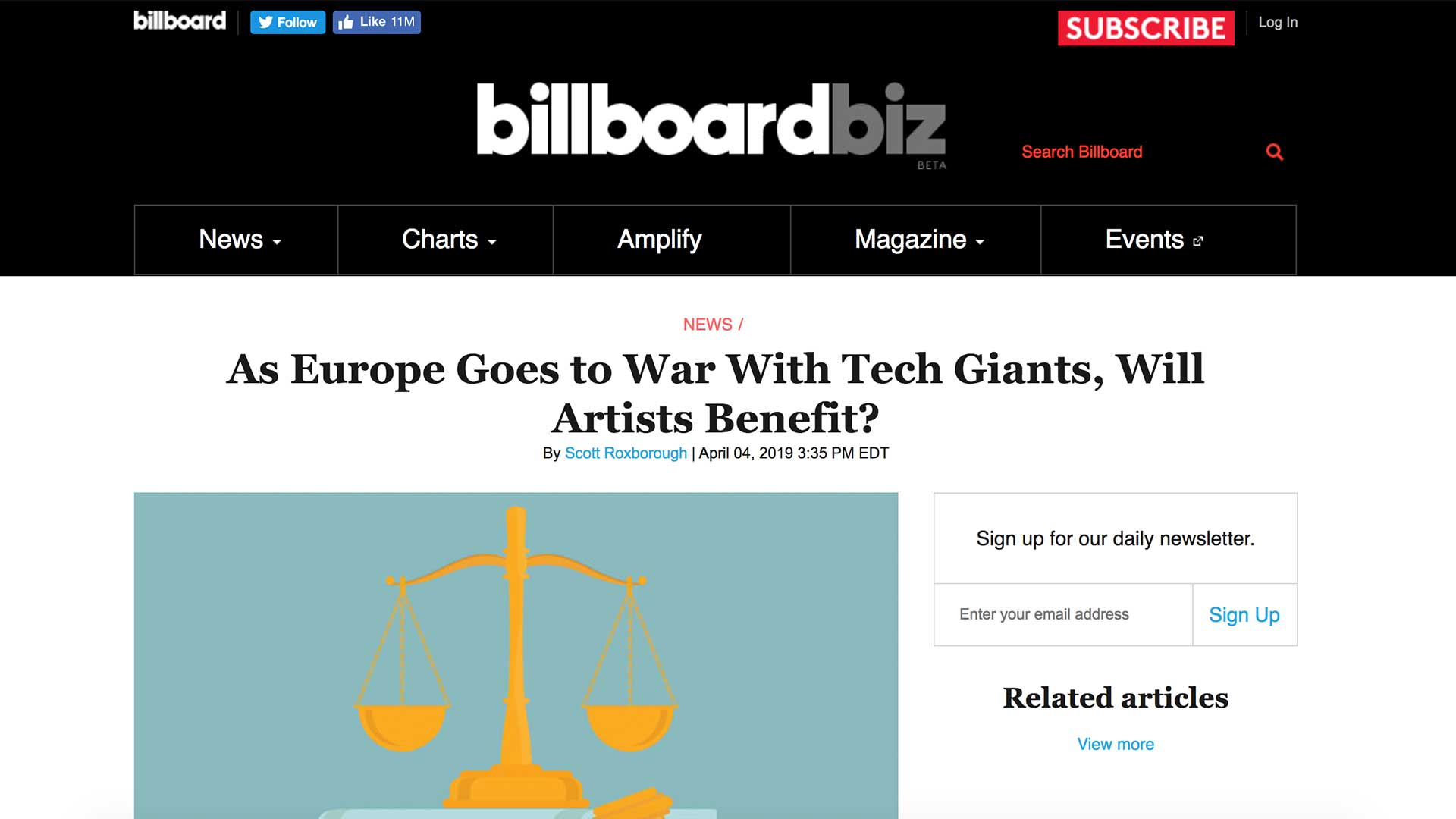 Fairness Rocks News As Europe Goes to War With Tech Giants, Will Artists Benefit?