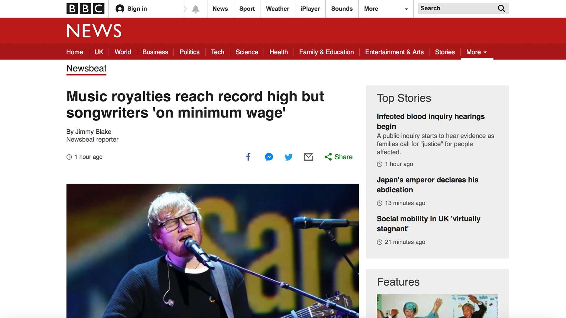 Fairness Rocks News Music royalties reach record high but songwriters 'on minimum wage'