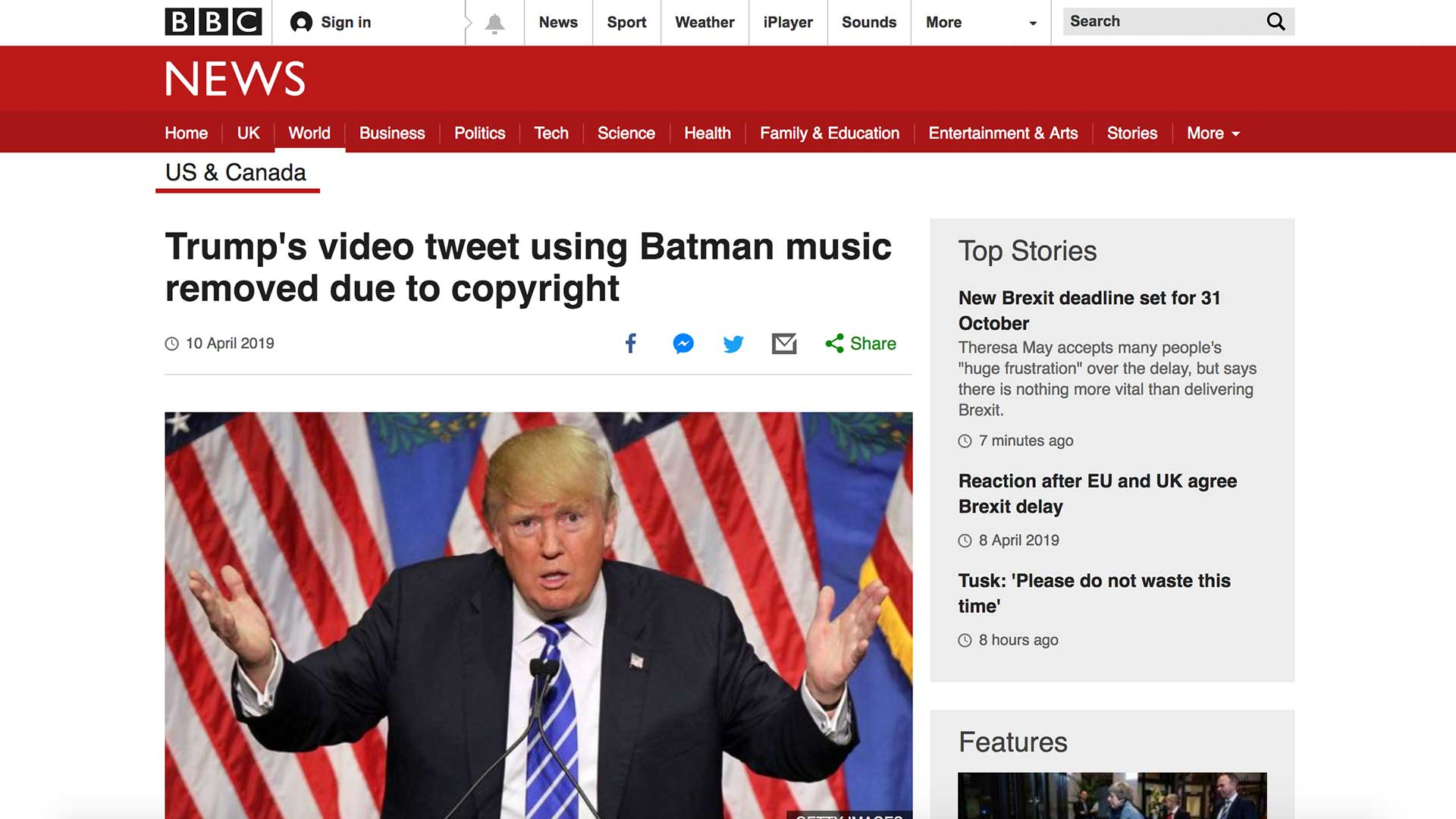 Fairness Rocks News Trump's video tweet using Batman music removed due to copyright