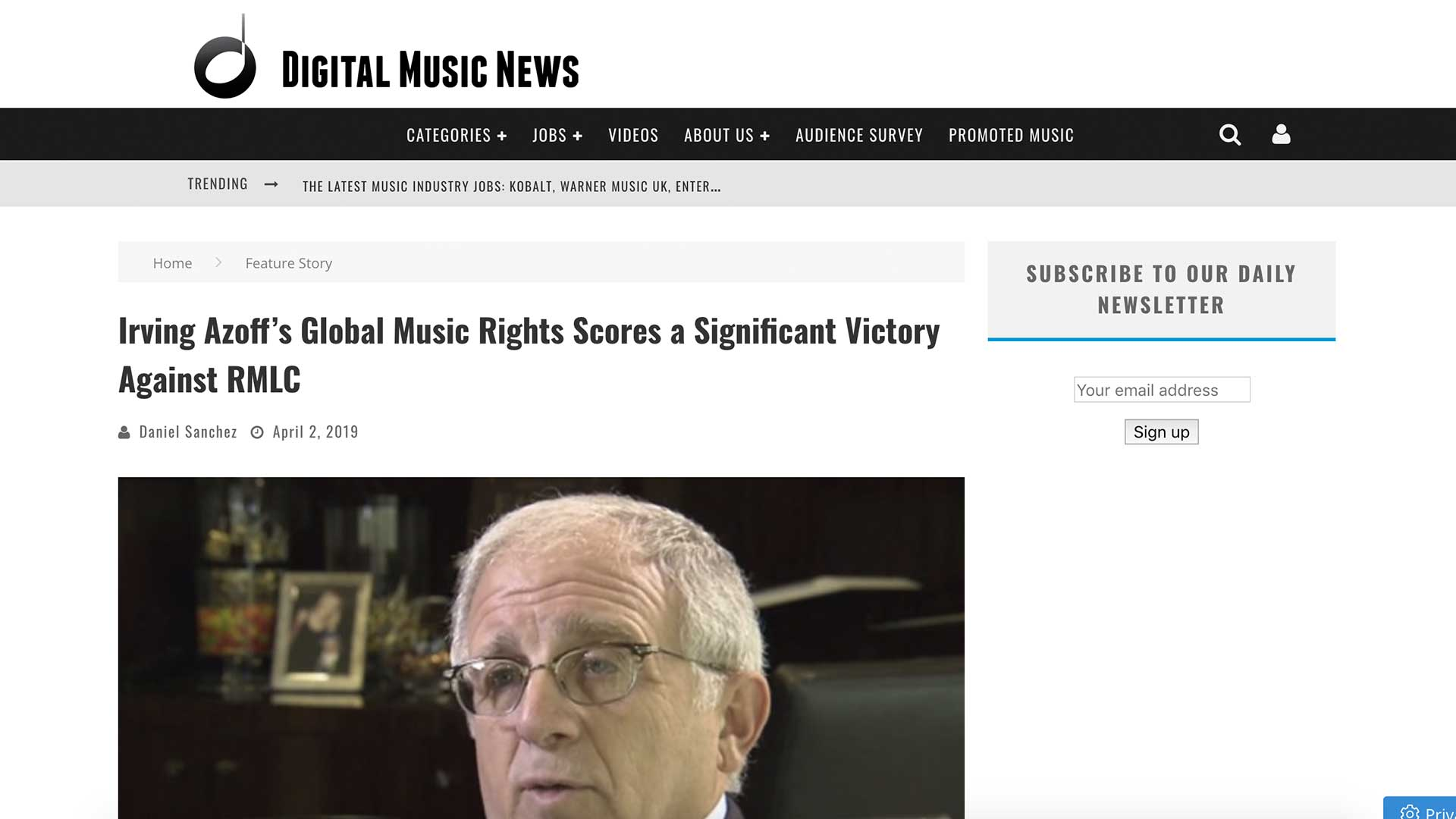 Fairness Rocks News Irving Azoff's Global Music Rights Scores a Significant Victory Against RMLC