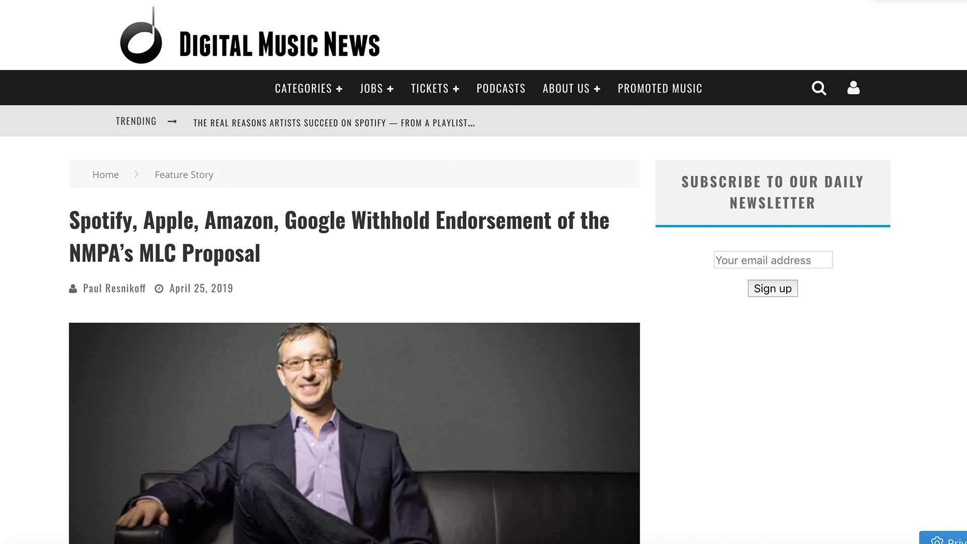 Fairness Rocks News Spotify, Apple, Amazon, Google Withhold Endorsement of the NMPA's MLC Proposal