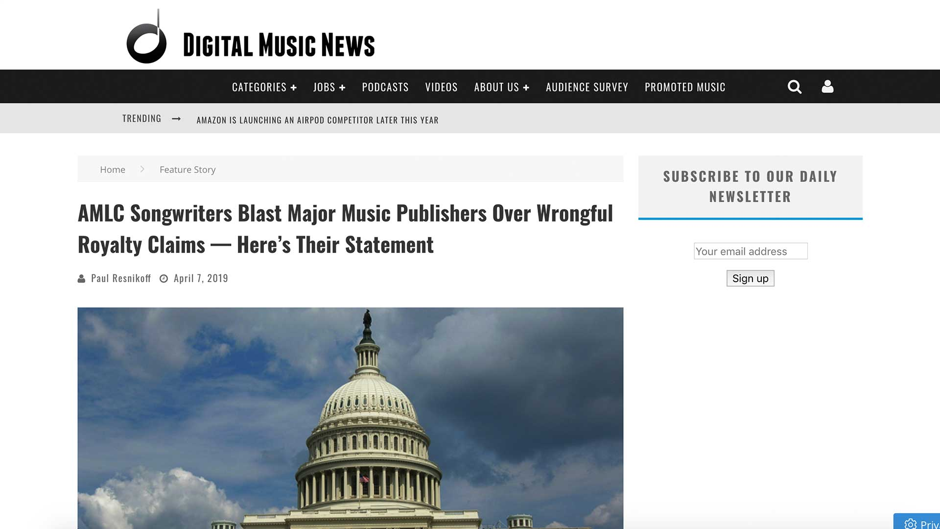 Fairness Rocks News AMLC Songwriters Blast Major Music Publishers Over Wrongful Royalty Claims — Here's Their Statement