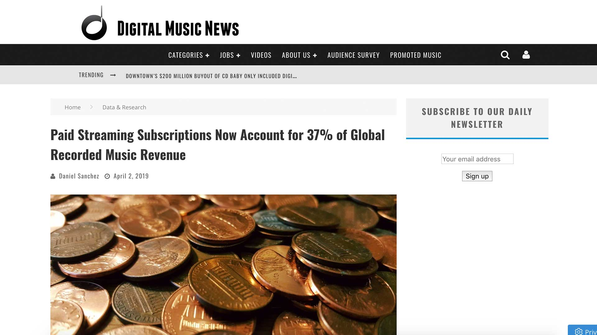 Fairness Rocks News Paid Streaming Subscriptions Now Account for 37% of Global Recorded Music Revenue