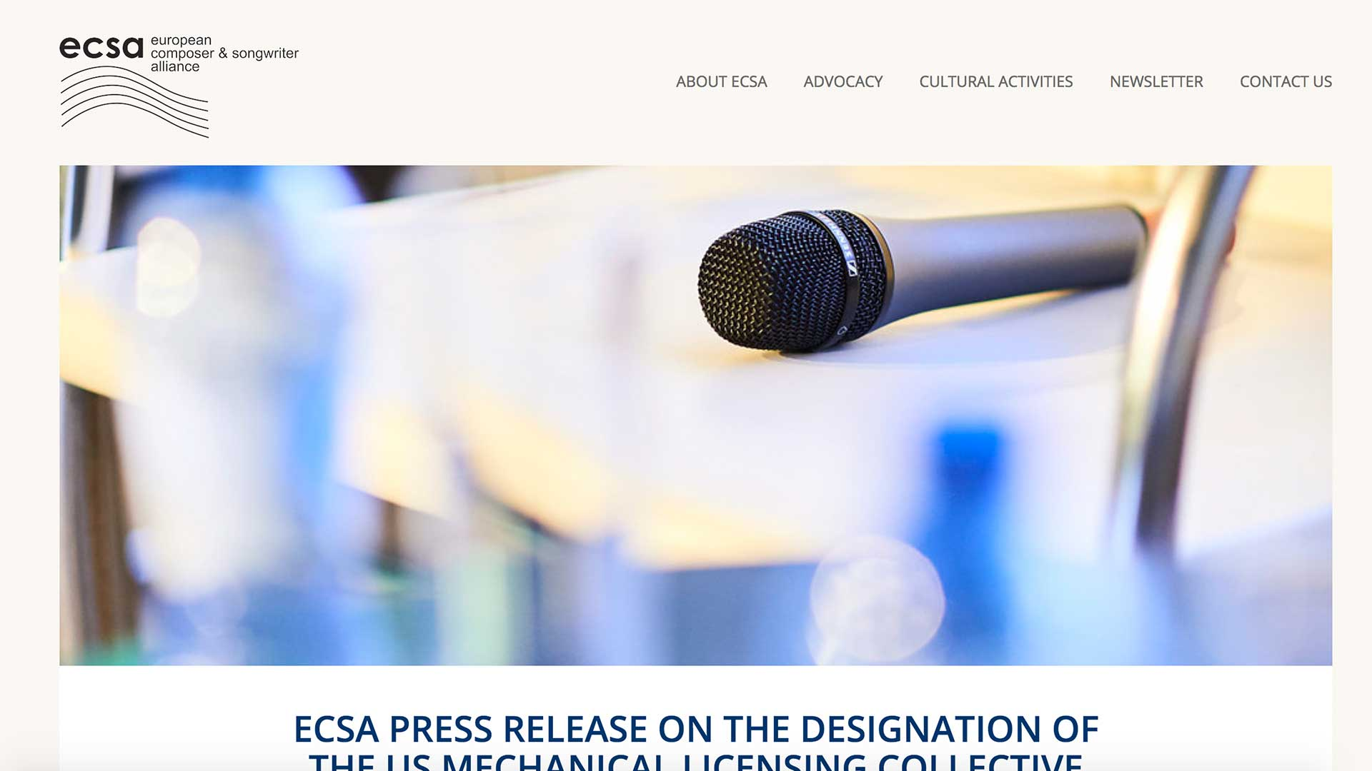 Fairness Rocks News ECSA PRESS RELEASE ON THE DESIGNATION OF THE US MECHANICAL LICENSING COLLECTIVE (MLC)