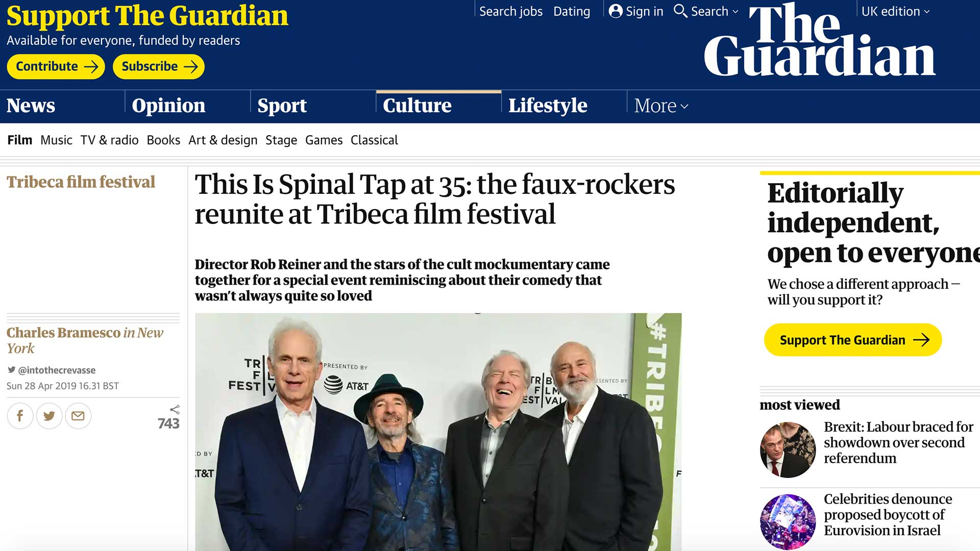 Fairness Rocks News This Is Spinal Tap at 35: the faux-rockers reunite at Tribeca film festival