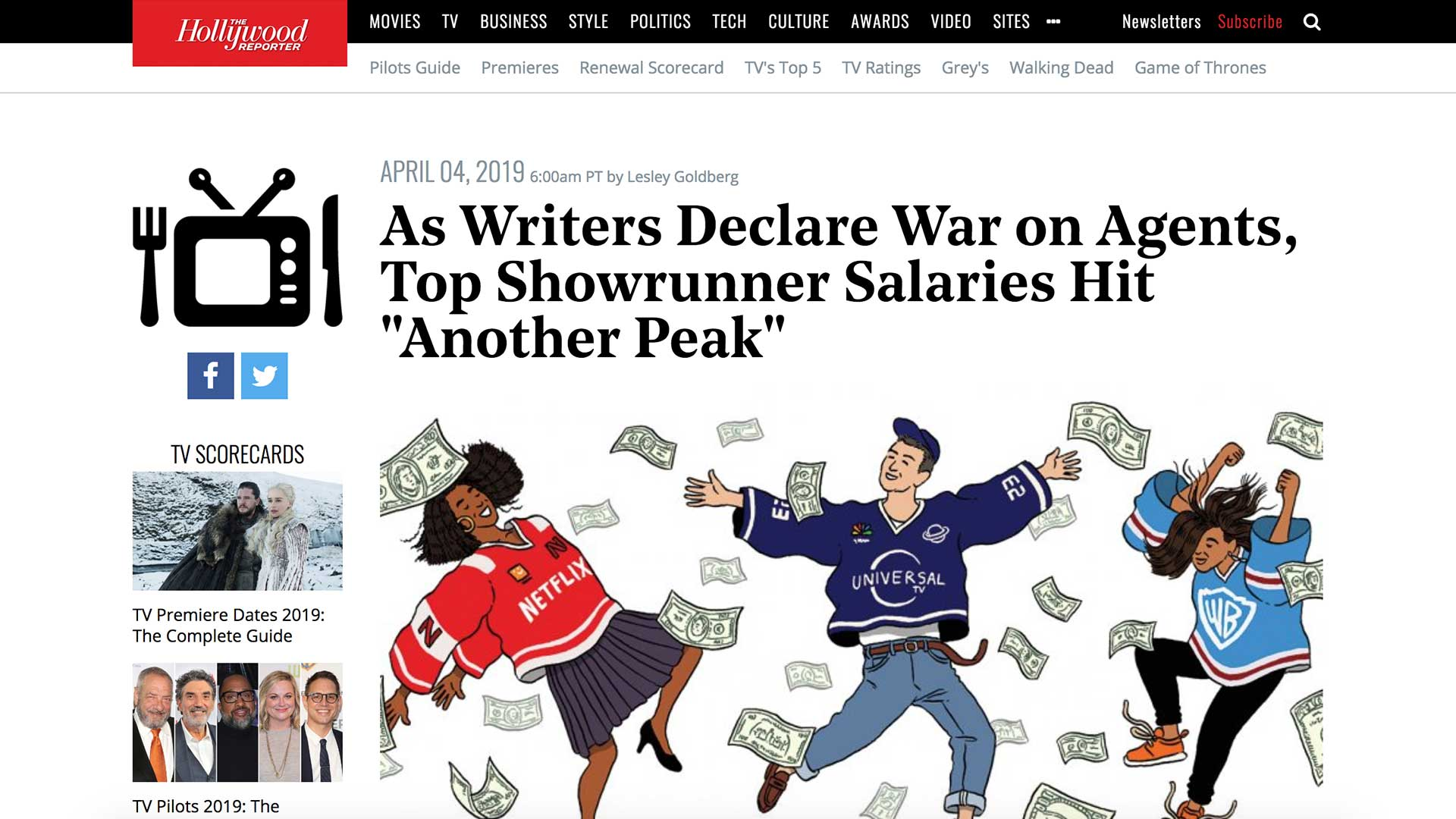 "Fairness Rocks News As Writers Declare War on Agents, Top Showrunner Salaries Hit ""Another Peak"""