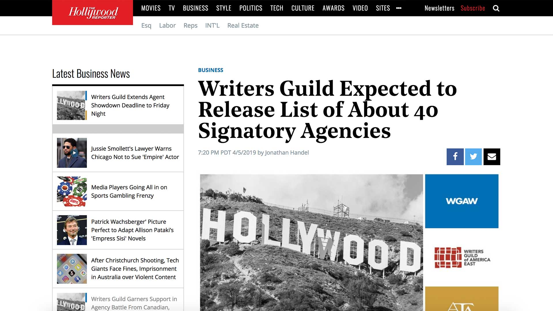 Fairness Rocks News Writers Guild Expected to Release List of About 40 Signatory Agencies