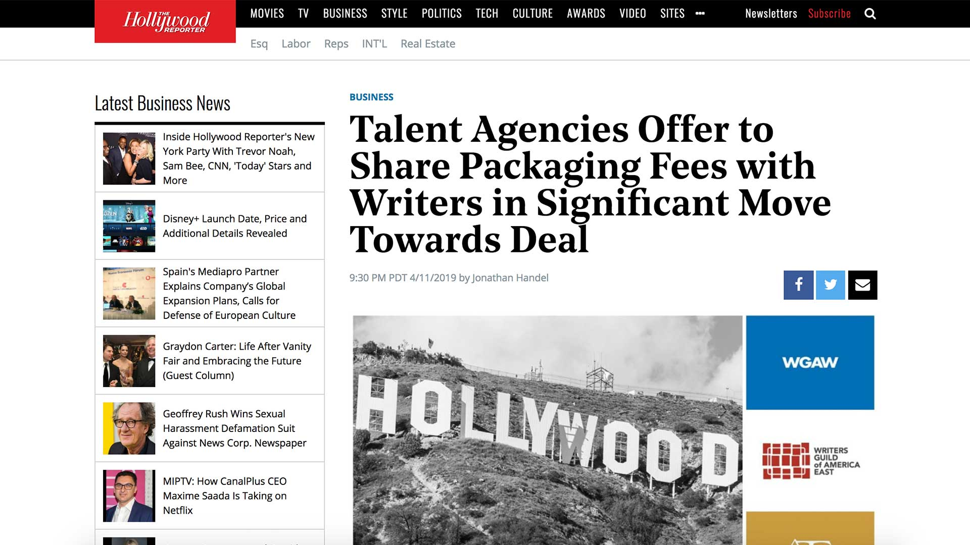 Fairness Rocks News Talent Agencies Offer to Share Packaging Fees with Writers in Significant Move Towards Deal