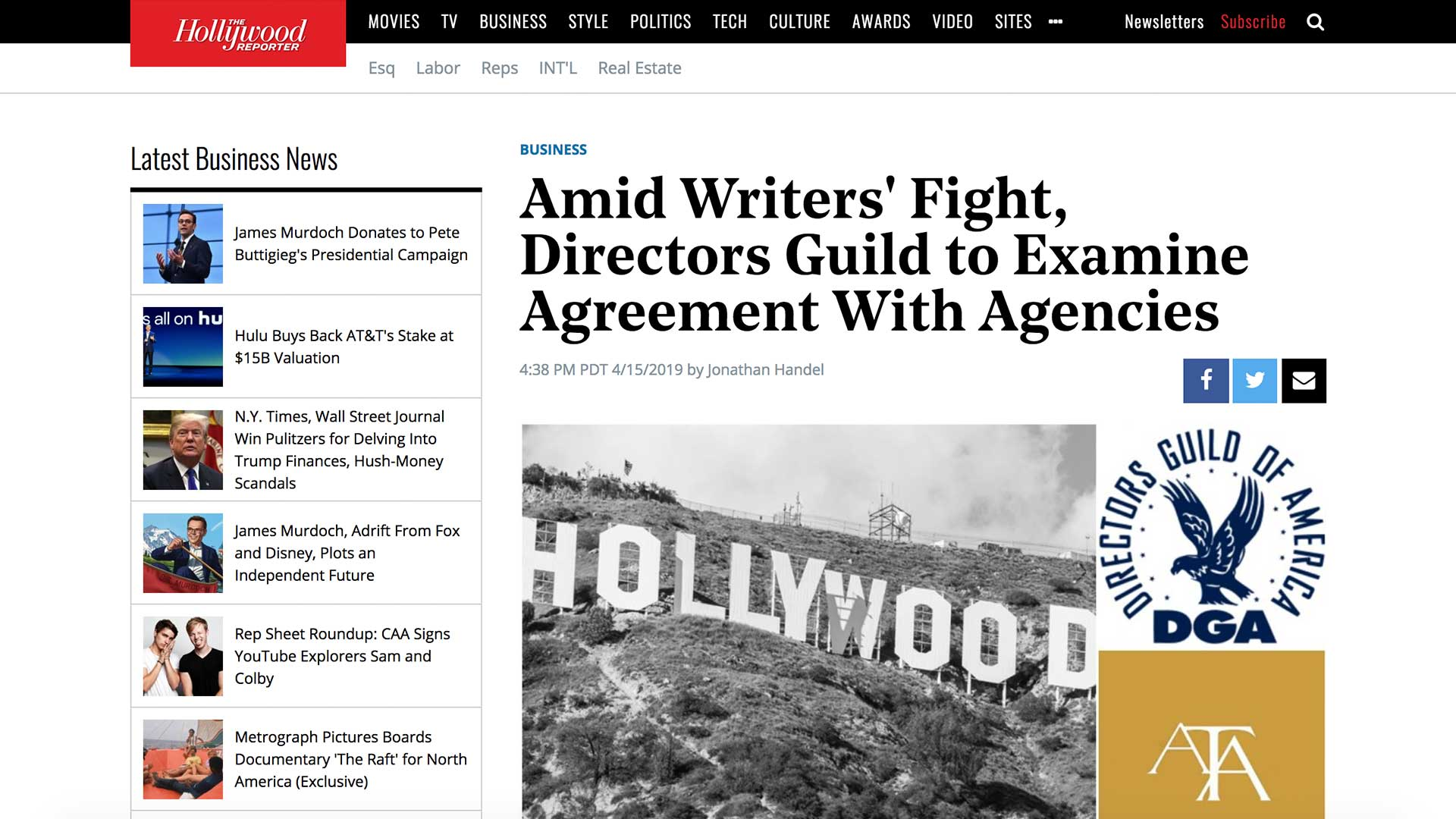 Fairness Rocks News Amid Writers' Fight, Directors Guild to Examine Agreement With Agencies