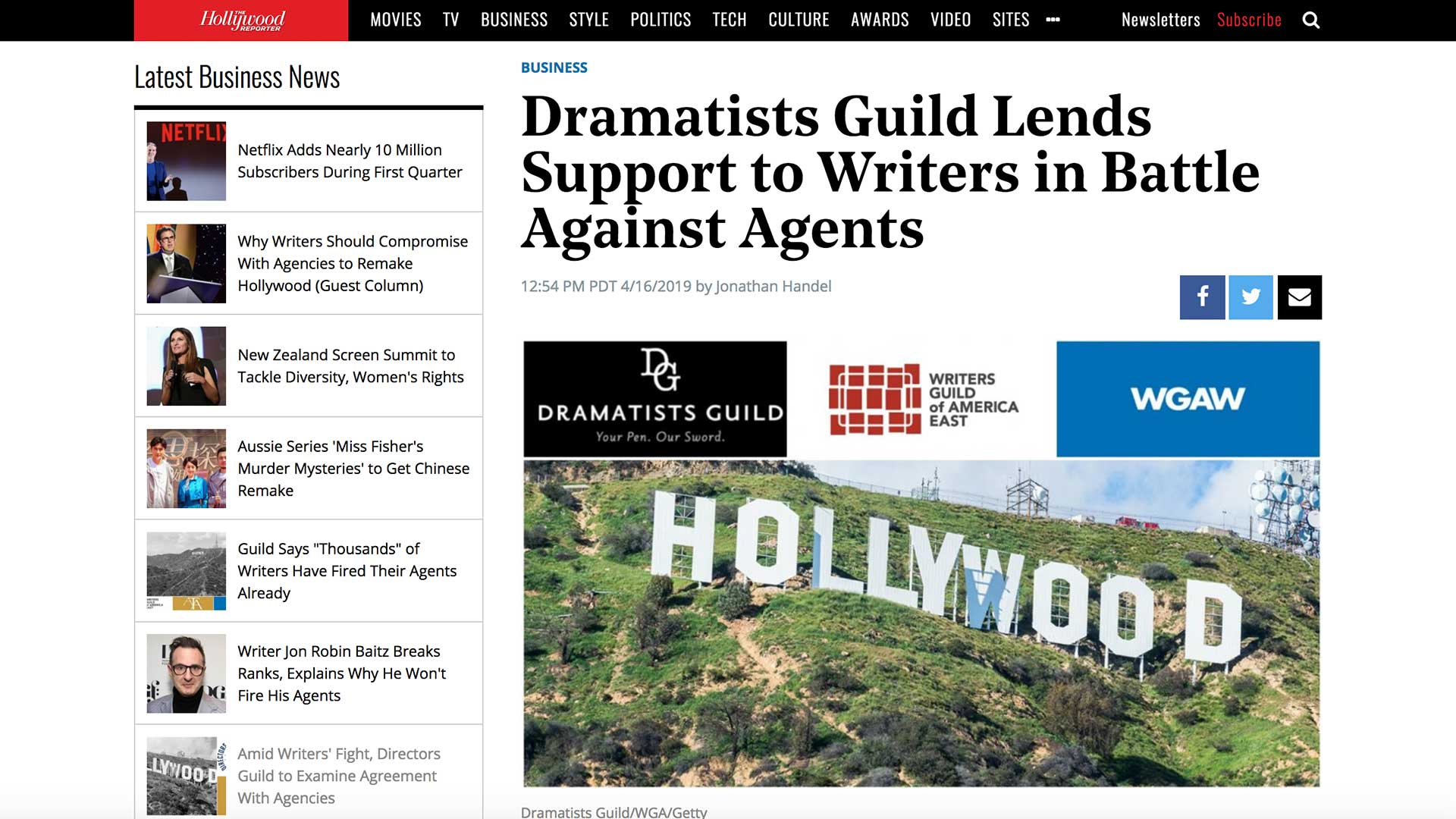 Fairness Rocks News Dramatists Guild Lends Support to Writers in Battle Against Agents