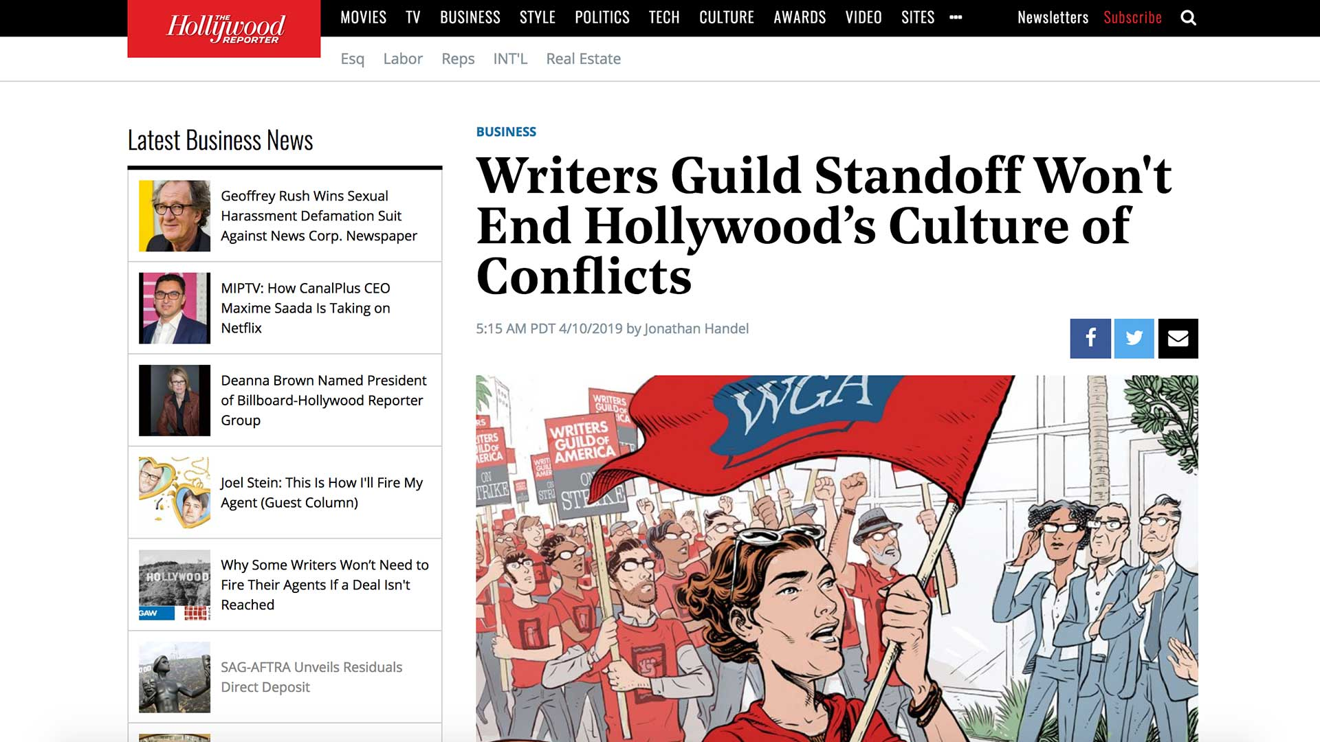 Fairness Rocks News Writers Guild Standoff Won't End Hollywood's Culture of Conflicts