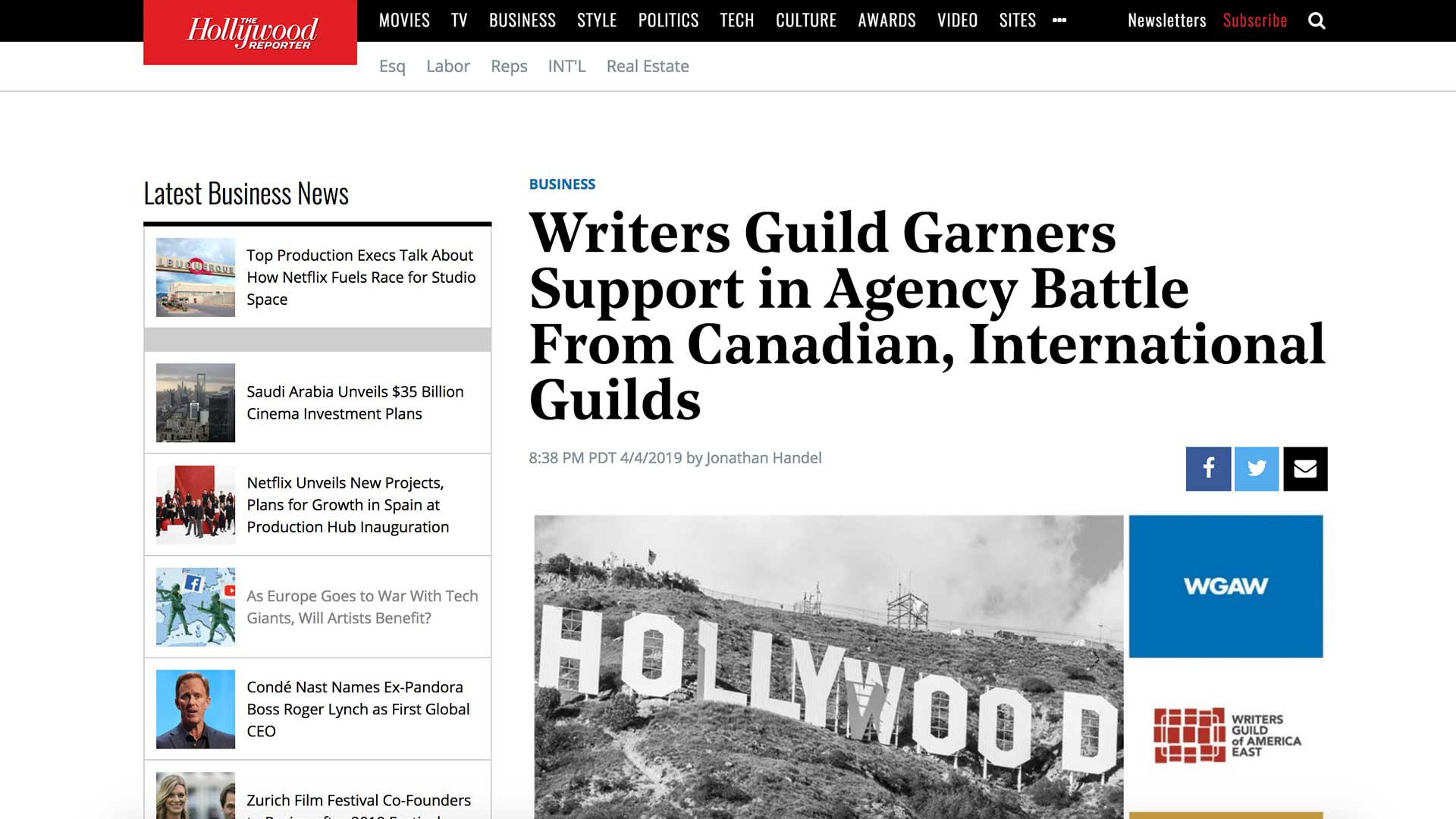 Fairness Rocks News Writers Guild Garners Support in Agency Battle From Canadian, International Guilds