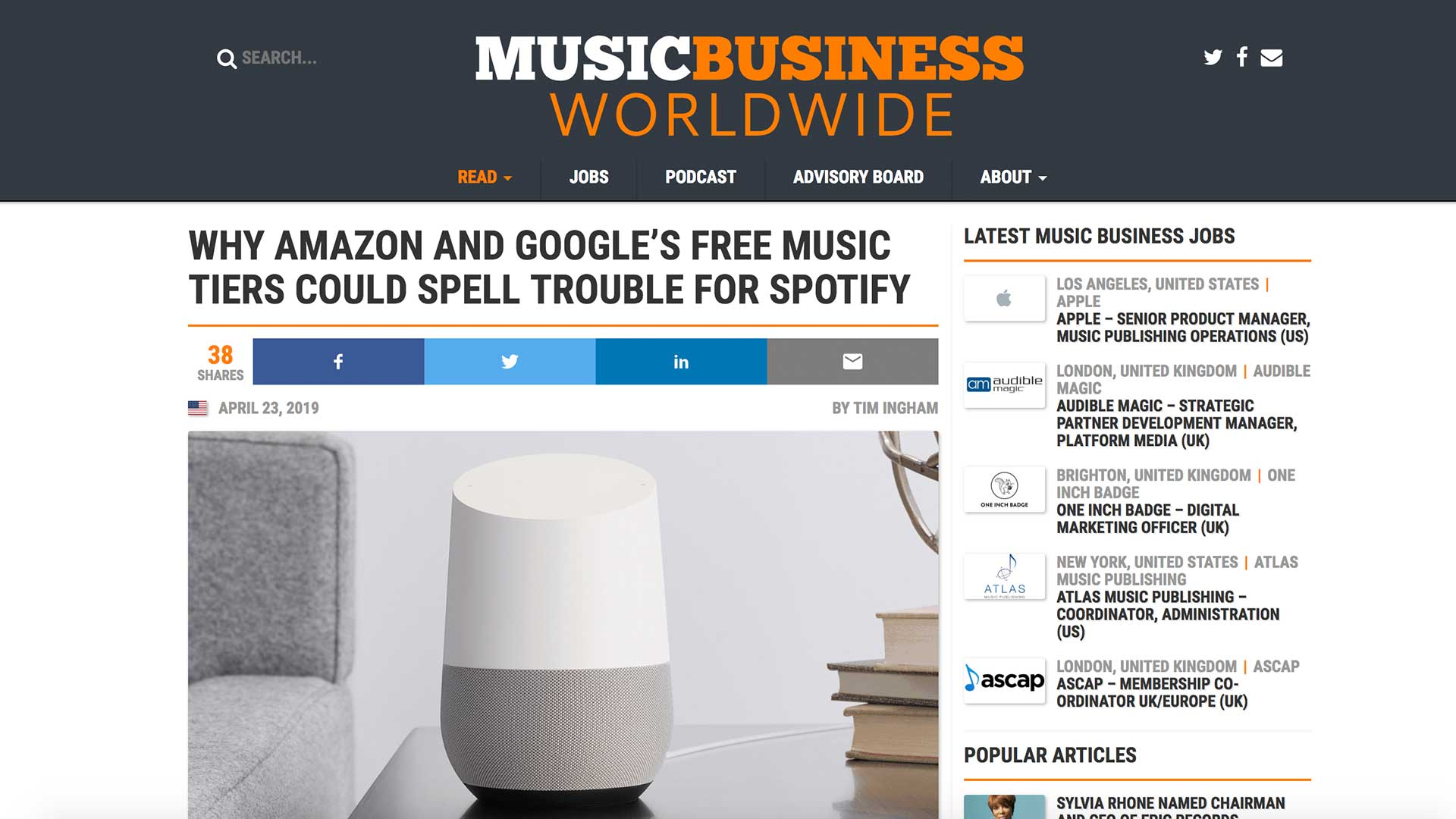 Fairness Rocks News WHY AMAZON AND GOOGLE'S FREE MUSIC TIERS COULD SPELL TROUBLE FOR SPOTIFY