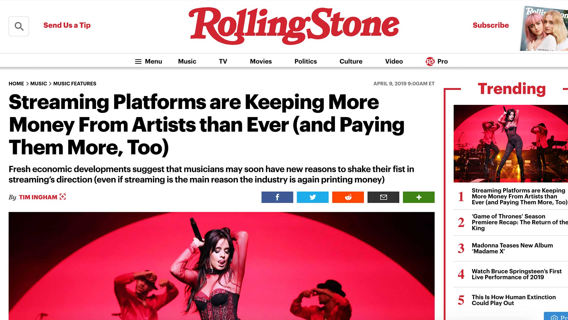 Fairness Rocks News Streaming Platforms are Keeping More Money From Artists than Ever (and Paying Them More, Too)