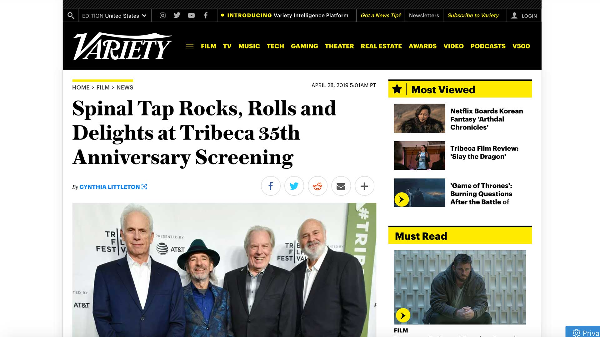 Fairness Rocks News Spinal Tap Rocks, Rolls and Delights at Tribeca 35th Anniversary Screening