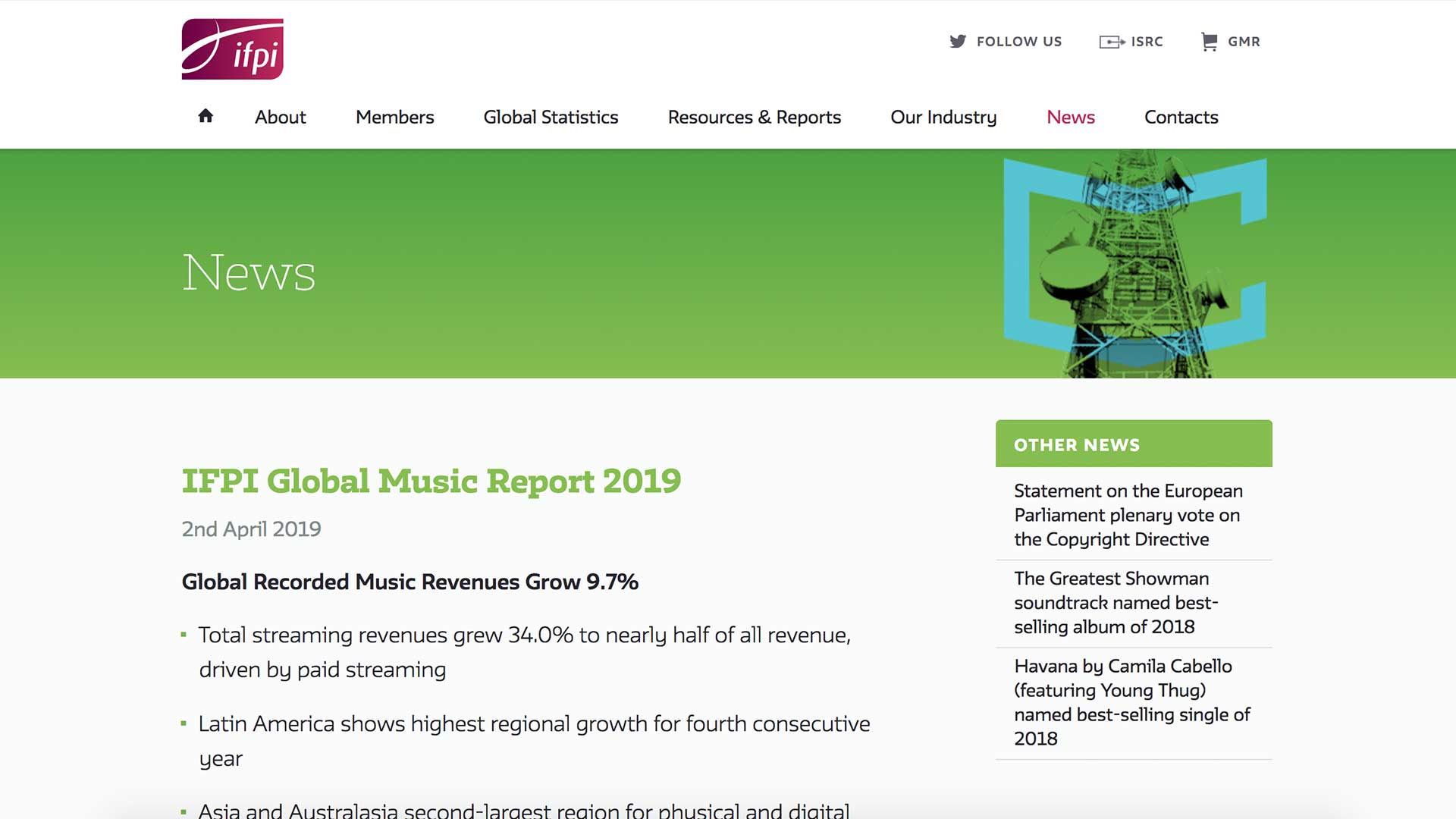 Fairness Rocks News IFPI Global Music Report 2019
